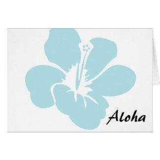 El hibisco hawaiano florece hawaiana tarjeta de felicitación