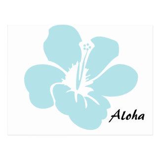 El hibisco hawaiano florece hawaiana postal