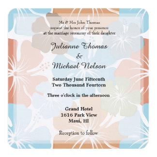 El hibisco tropical hawaiano florece el boda invitación
