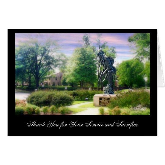 El hierro Mike le agradece por usted… Tarjeta De Felicitación