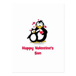 El hijo de la tarjeta del día de San Valentín feli Postal
