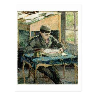 El hijo del artista, 1893 (aceite en lona) postal