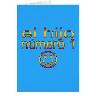 EL Hijo Número 1 - hijo del número 1 en español Tarjeta De Felicitación