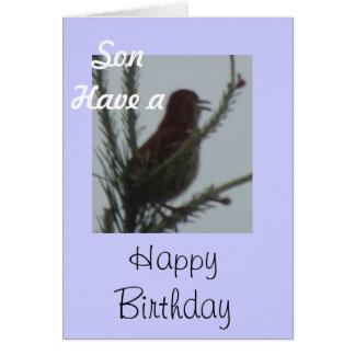El hijo tiene un feliz cumpleaños tarjeta de felicitación