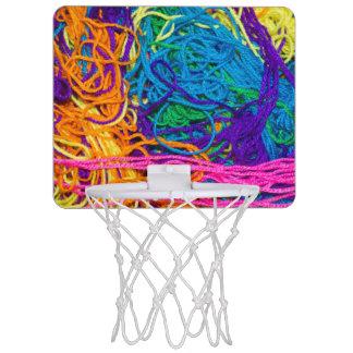 El hilado enreda la foto mini tablero de baloncesto