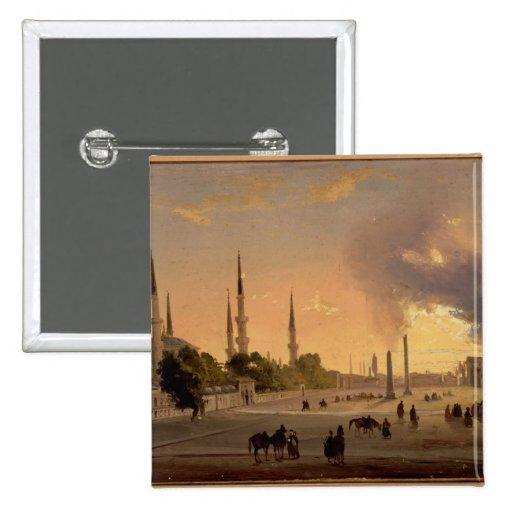 El hipódromo en Constantinopla (aceite en lona) Pin