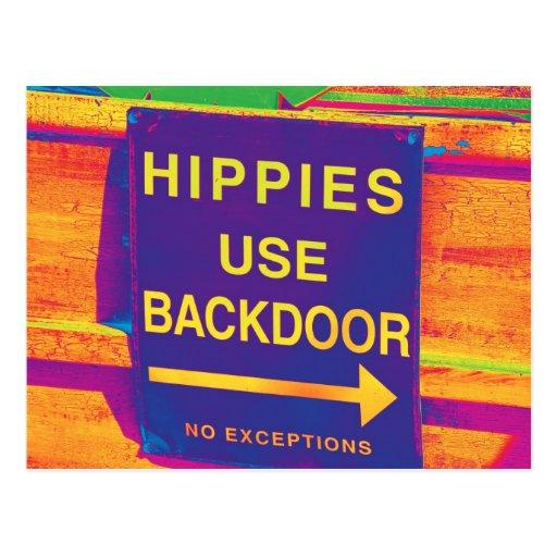 El Hippie de la muestra del Hippie de la postal de