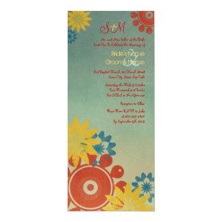 El Hippie florece la invitación del boda del