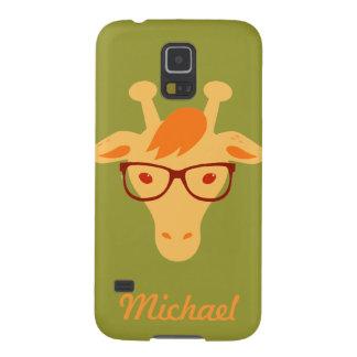 el hipsta Samsung animal de la jirafa del Funda Galaxy S5
