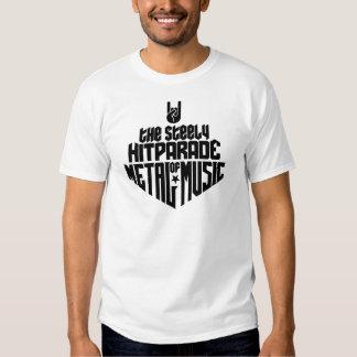El Hitparade inflexible de la música 1c (negro) Camisas