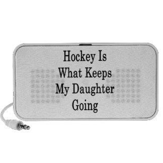 El hockey es qué guarda mi ir de la hija altavoz