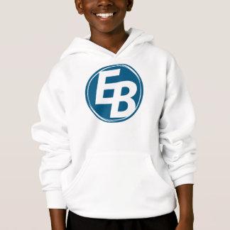 El hoddie del muchacho azul extremo del logotipo