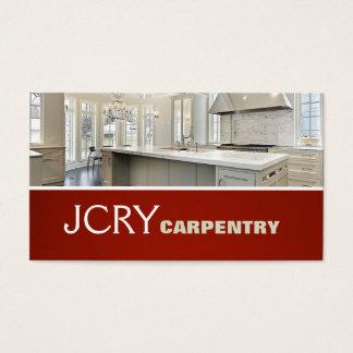 El hogar de la casa de la cocina de la carpintería tarjeta de negocios