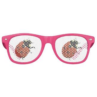 El hogar de la oficina de la mariquita personaliza gafas de fiesta retro