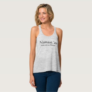 """El """"hogar de Namastay y come el tanque de los Camiseta Con Tirantes"""
