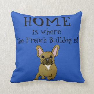 El hogar es donde está almohada el dogo francés