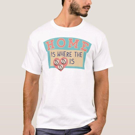 El hogar es donde está… camiseta la bóveda de la