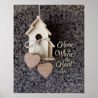El hogar es donde está decoración el corazón