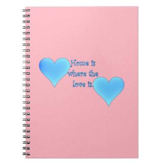 El hogar es donde está el amor cuadernos