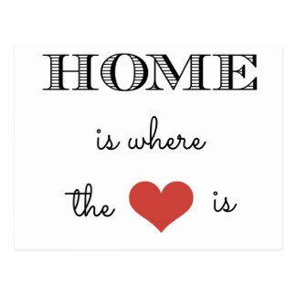 El hogar es donde está el corazón postal