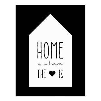 El hogar es donde está el corazón - tarjeta