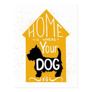 El hogar es donde está el perro postal