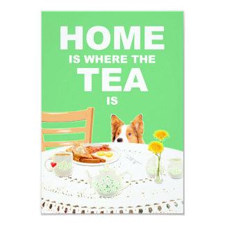 El hogar es donde está invitación el té del