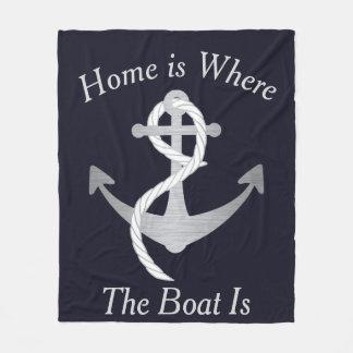 El hogar es donde está manta el barco náutica