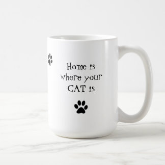 El hogar es donde está taza su CAT
