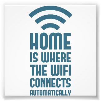 El hogar es donde WIFI conecta automáticamente Fotografia