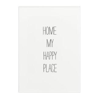El hogar es mi arte de acrílico de la pared del