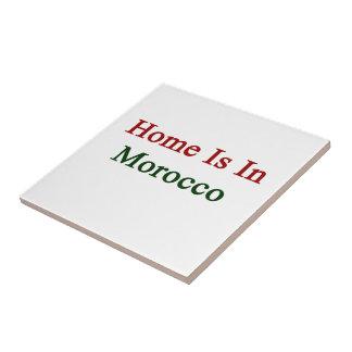 El hogar está en Marruecos