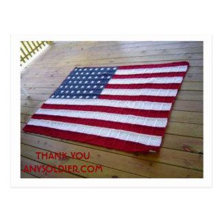 el hogar hizo la bandera postal