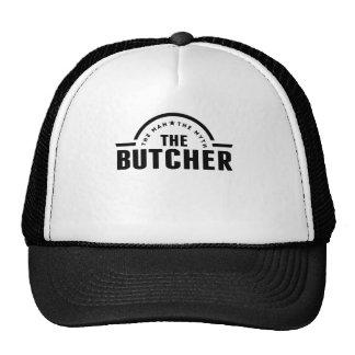 El hombre el mito el carnicero gorras