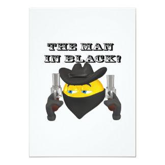 El hombre en negro invitación 12,7 x 17,8 cm