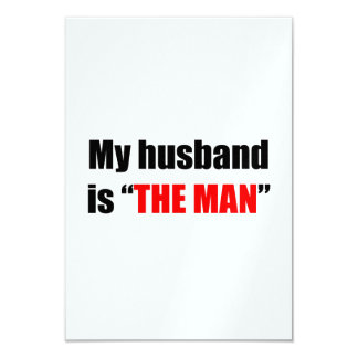 El hombre invitación 8,9 x 12,7 cm