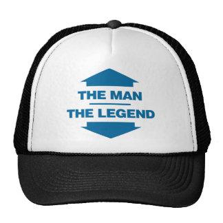 El hombre la leyenda - azul gorros