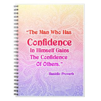 El hombre que tiene - Quote´s positivo Cuaderno