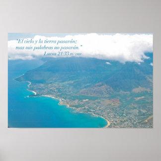 EL horizontal Aire del desde de Oahu de la estafa Poster