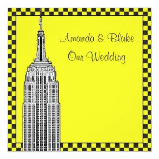 El horizonte de NYC grabó al agua fuerte el boda a Invitación 13,3 Cm X 13,3cm