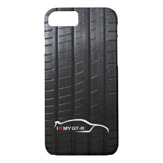 El horizonte GT-r con el neumático pisa Funda Para iPhone 8/7