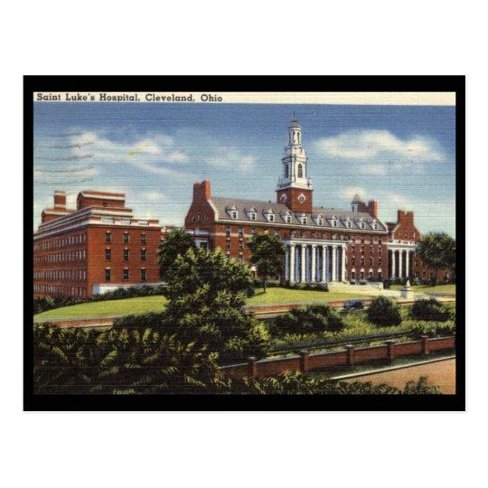 El hospital de St Luke, vintage de Cleveland Postal