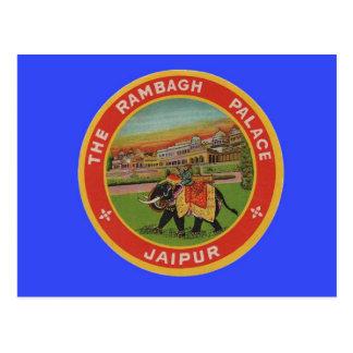 El hotel del palacio de Rambagh - Jaipur la India  Tarjetas Postales