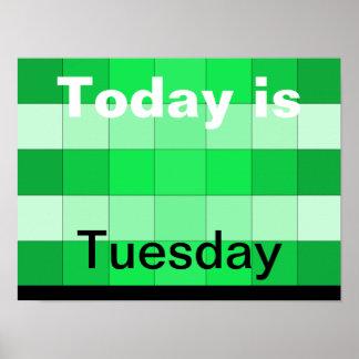 El hoy es martes póster