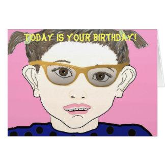 ¡El hoy es su cumpleaños! Tarjeta De Felicitación