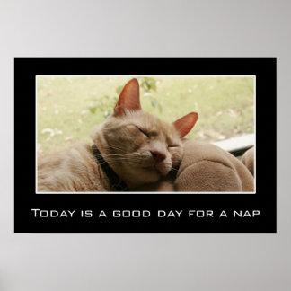 El hoy es un buen día para una siesta (l) póster
