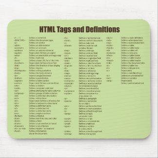 El HTML marca Mousepad con etiqueta Alfombrilla De Ratón