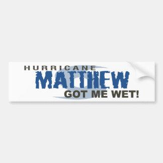 El huracán Matthew me consiguió octubre de 2016 Pegatina Para Coche