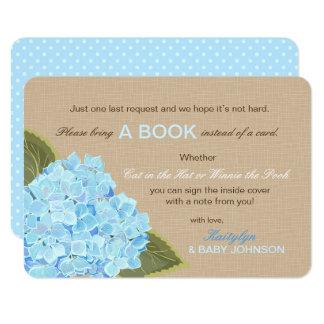 El Hydrangea azul rústico leyó una tarjeta de