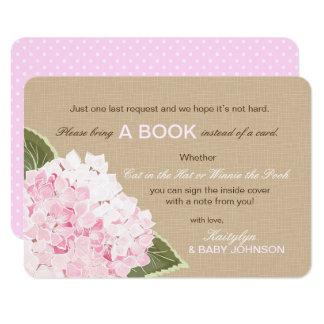 El Hydrangea rosado rústico leyó una tarjeta de